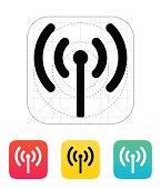 Radio antenna sending signal icon.