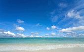 beach with sun