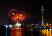 Fireworks Display in Macao, China