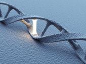 DNA helix molecules. Science concept 3D