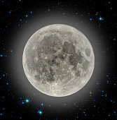 Moon Halo and Stars