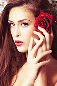 beauty with rose
