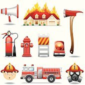 Icon Set, Fire safety