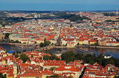 Beautiful Prague panorama view in summer day