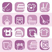 color cleaning and washing icons
