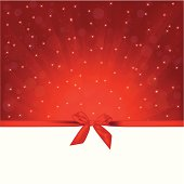 red background with gift bow