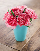 Pink carnations flower bouquet