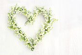 Lily of the valley flower wreath