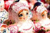 Babushka or Matryoshka Nesting Russian Dolls