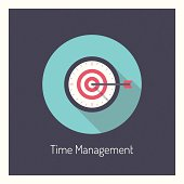 Time management illustration concept