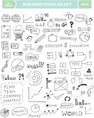 Business doodle elements set