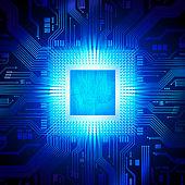 Computer chip / CPU concept