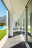 modern villa, porch