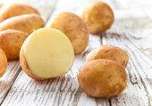 New raw potatoes