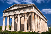 Ancient Temple of Hephaestus, Athens in Greece