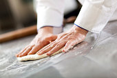 Chef preparing dough