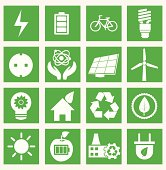 Set of energy saving icons - part 1