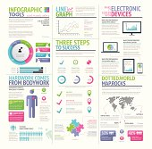 Modern colorful set of infographic elements vector - Illustration