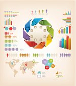 Set of Info graphics elements. Vector illustration