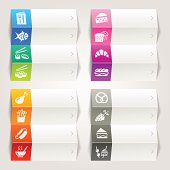 Rainbow - Food and restaurant icons / Navigation template
