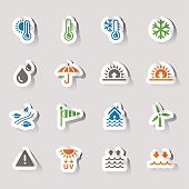 Stickers - weather and Meteorology Icons