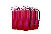 stack of fire extinguisher