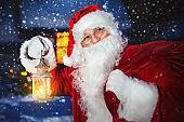 Santa Claus outside