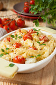 pasta baked with cheese and tomato