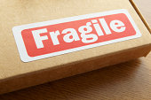 Fragile parcel for despatch