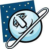 funny uranus planet cartoon illustration
