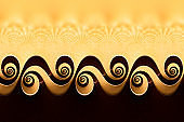 Bizarre Cup  - Background Fractal Spiral Surreal Coffee Gold Floral