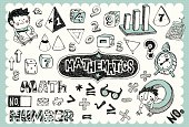 Hand drawn mathematics set 01