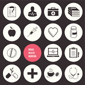 Vector Medicine Health and Drugs Icons Set