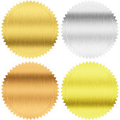 """gold, silver and bronze medals isolated with clipping path"""