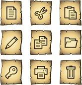 Document web icons set 1, papyrus series