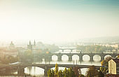 Vltava River in Prague (Czech Republic)