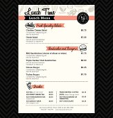 Restaurant Lunch menu design Template layout