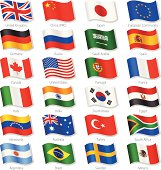 World Top Countries Vector National Flags