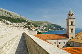 Dominican church tower in Dubrovnik Old Town
