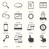 Search Engine Optimization Icons Set