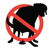 Pooping dog illustration