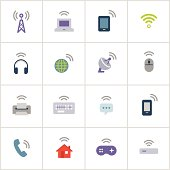 Wireless Technology Icons — Poly Series