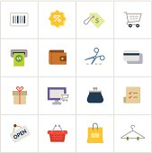 Shopping Icons — Poly Series