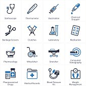 Medical & Health Care Icons Set 1 - Equipment & Supplies