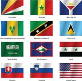 Set  Flags of world sovereign states.