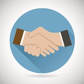 Symbol Concept Successful Partnership, Business People Cooperation Agreement, Tteamwork Solution