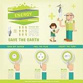 ENERGY SAVING INFOGRAPHICS
