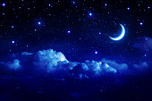Romantic sky night for Valentine background