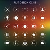 Flat design - icons pack. Simple line icons Set