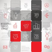 Infographic squares background design illustration